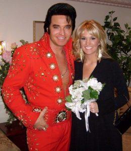 Carrie Underwood and Elvis Impersonator Johnny Thompson