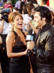 Elvis Impersonator Johnny Thompson with Eva Mendez