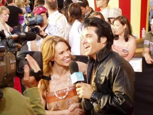 Elvis Impersonator with Hillary Swank