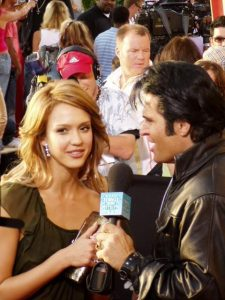 Elvis Impersonator Johnny Thompson with Jessica Alba