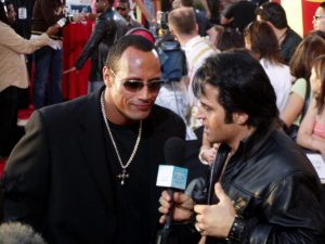 Elvis Impersonator Johnny Thompson with The Rock