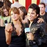 Elvis Impersonator Johnny Thompson with Eva Mendez