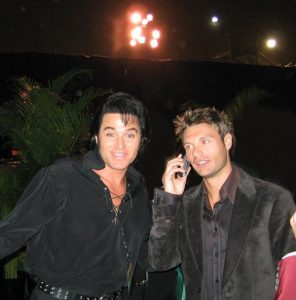Elvis Tribute Artist with Ryan Seacrest
